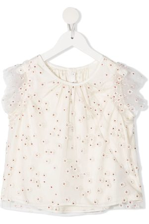 BONPOINT Floral embroidered blouse - Neutrals