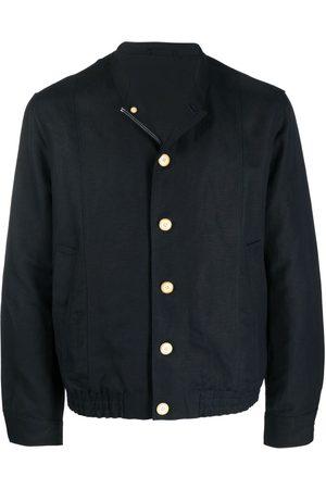 Emporio Armani Linen-blend bomber jacket