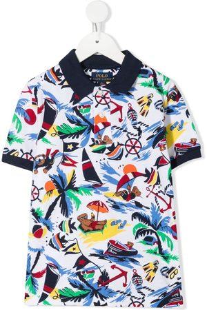 Ralph Lauren Bear print polo shirt