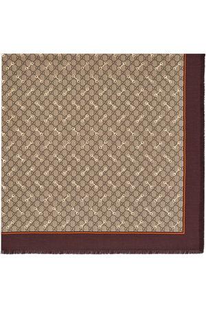 Gucci GG Horsebit-print silk scarf - Neutrals