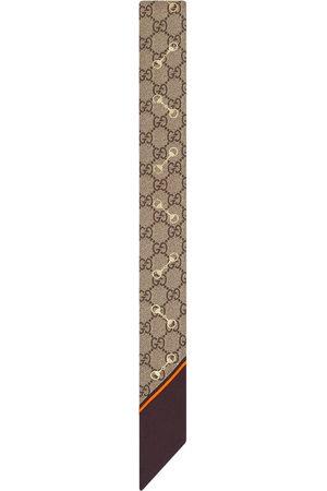 Gucci GG Horsebit silk neck tie - Neutrals