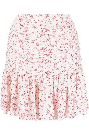 Ganni High-waisted floral-print skirt