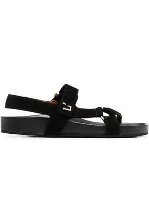 L'Autre Chose Touch-strap suede sandals