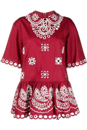 RED Valentino Broderie anglaise peplum blouse
