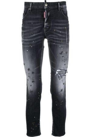 Dsquared2 Men Skinny - Faded paint splatter jeans