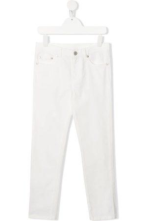 Moncler Girls Slim - Logo detail slim jeans