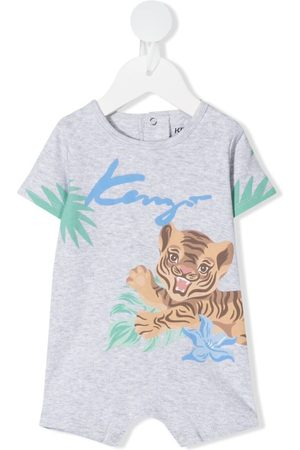Kenzo Baby tiger-print shorties - Grey