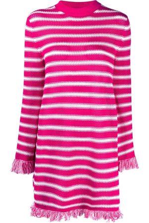 Msgm Women Party Dresses - Striped knitted mini dress
