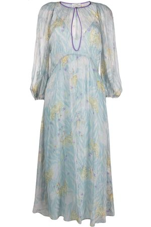 FORTE FORTE Floral-print chiffon midi dress