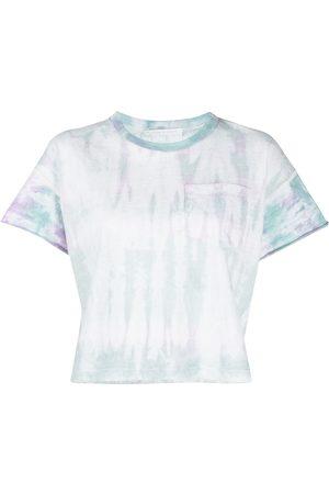 JOHN ELLIOTT Women T-shirts - Tie-dye print cropped T-Shirt
