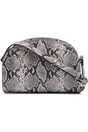 A.P.C. Demi Lune snakeskin-print shoulder bag - Neutrals