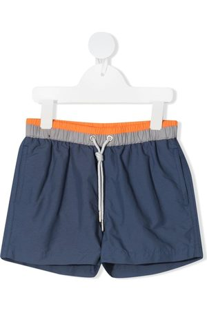 KNOT Stripe-panelled swim shorts