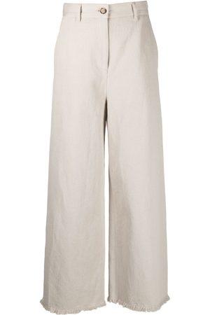 Msgm High-rise wide-leg trousers - Neutrals