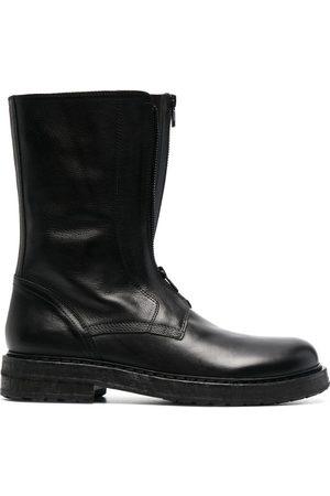 ANN DEMEULEMEESTER Chunky leather boots