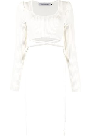 CHRISTOPHER ESBER Ribbed wrap-around top