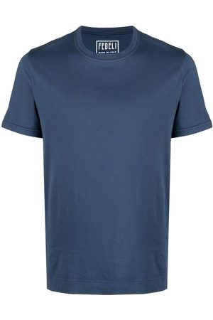 FEDELI Crewneck cotton T-shirt