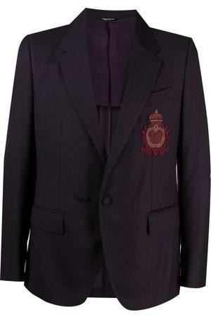 Dolce & Gabbana Logo patch single-breasted blazer