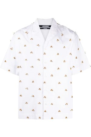 Jacquemus Men Shirts - La Chemise Blé embroidered shirt