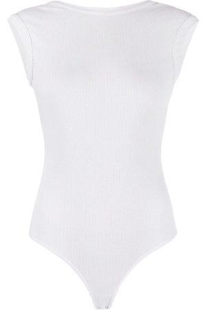 AGOLDE Boat-neck sleeveless bodysuit - Grey