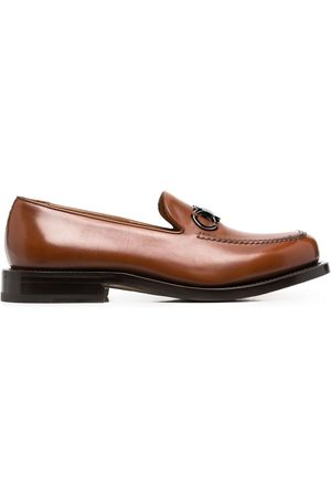 Salvatore Ferragamo Gancini-plaque loafers