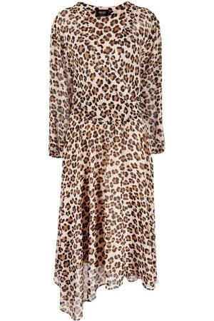 Liu Jo Leopard print asymmetric dress - Neutrals