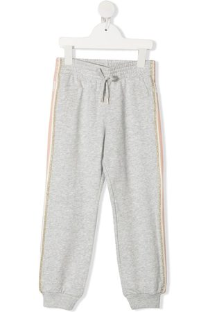 Chloé Side-stripe track pants - Grey