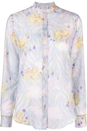 FORTE FORTE Women Long sleeves - Mixed-print long-sleeved shirt