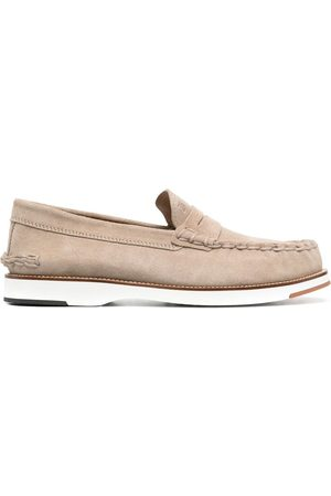 Tod's Men Loafers - Penny-bar suede loafers - Neutrals