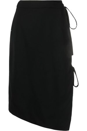 OFF-WHITE Tie-fastening asymmetric skirt