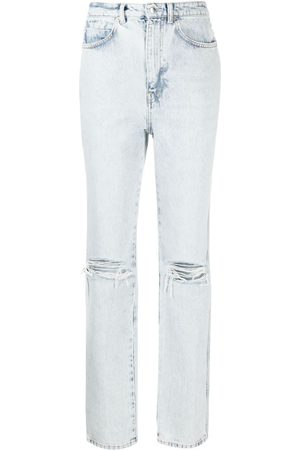 Alexander Wang High rise distressed-finish jeans