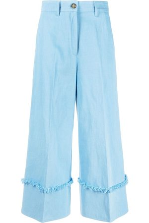 Msgm Women Wide Leg Pants - High-waisted wide-leg trousers
