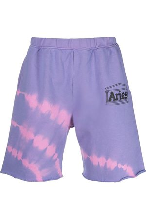 ARIES Sports Shorts - Tie dye-print track shorts