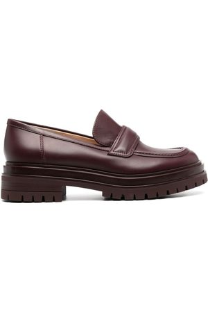 Gianvito Rossi Argo chunky-sole leather loafers - ROYALE