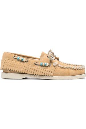 Alanui Dockside beaded loafers - Neutrals