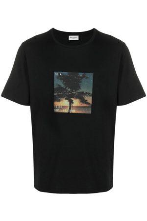Saint Laurent Men Short Sleeve - VHS print short-sleeve T-shirt