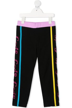 GCDS Girls Leggings - Side logo-print leggings