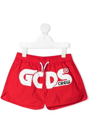 GCDS Logo-print swim shorts