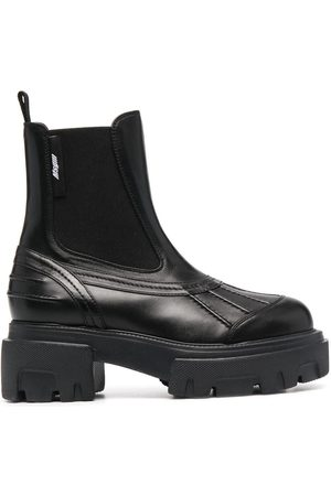 Msgm Women Heeled Boots - Chunky mid-heel Chelsea boots