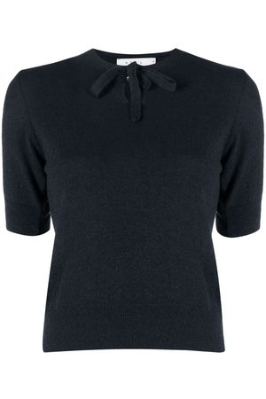 NEUL Tied-neck knitted top