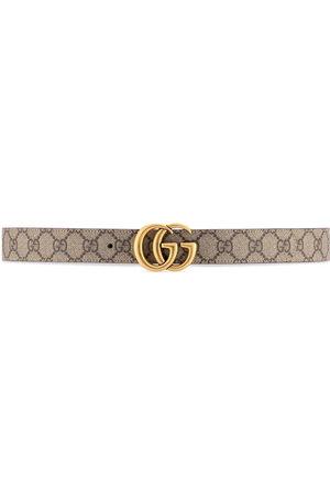 Gucci Women Belts - GG Marmont reversible belt - Neutrals