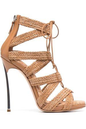 Casadei Interwoven-design sandals - Neutrals