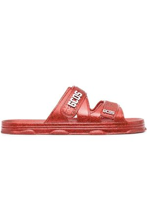 GCDS Chunky logo-plaque sandals
