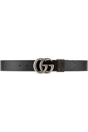 Gucci Men Belts - GG Marmont reversible belt - Neutrals