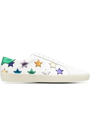 Saint Laurent Men Sneakers - Court Classic SL/06 star patch sneakers