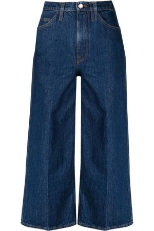 Frame Wide-leg cropped jeans