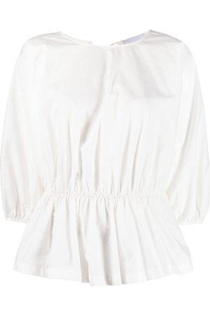 ERIKA CAVALLINI Round-neck cotton blouse