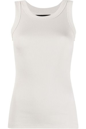 Styland Ribbed-knit vest top - Grey