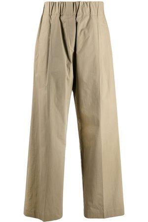 ERIKA CAVALLINI Women Wide Leg Pants - Elasticated-waist wide trousers - Neutrals