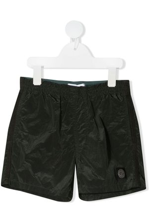 Stone Island Logo-patch swim shorts