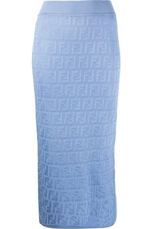Fendi Monogram knitted midi skirt